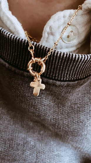 "Collier "" Trust charm """