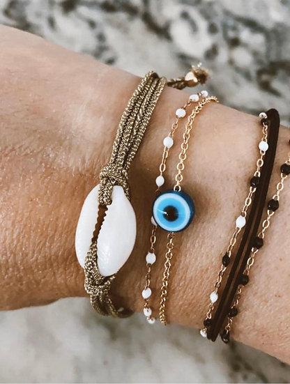 Bracelet «Protection» - Bleu Clair