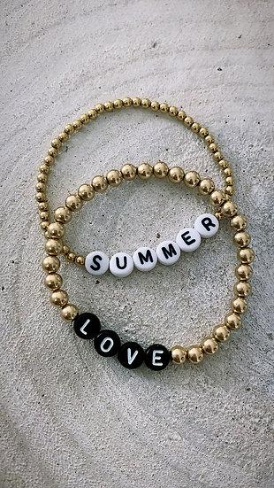 "Précommande Bracelet ""Big pearl word"""