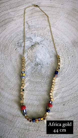 "Collier ""Africa gold"""