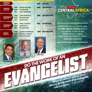 Central Africa Conference 2018 schedule