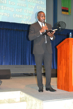 Pastor Setson ministered powerfully in o