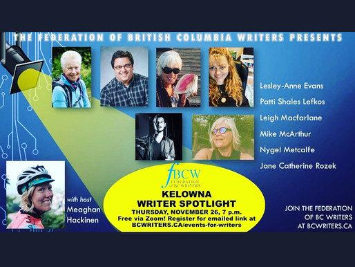 Federation of BC Writers Presents: me - gulp.