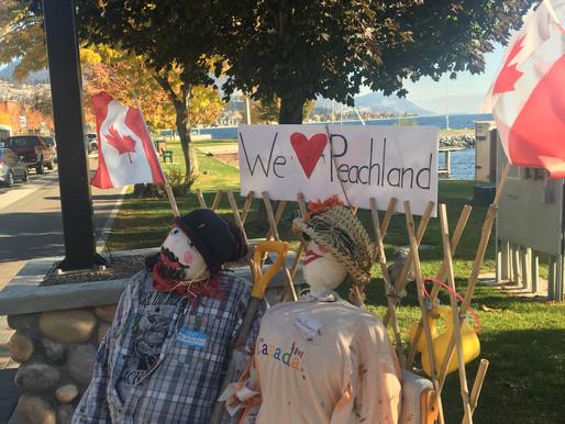 Scarecrow Mania in Peachland