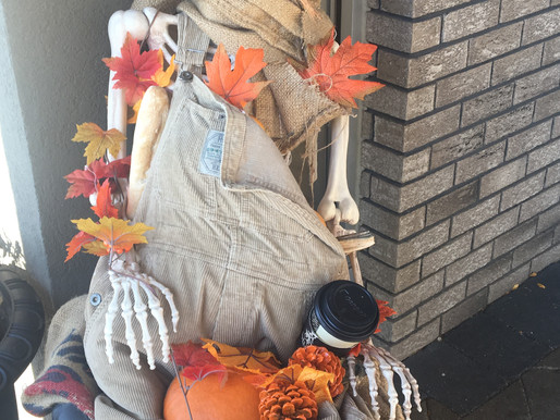 Scarecrows in Peachland