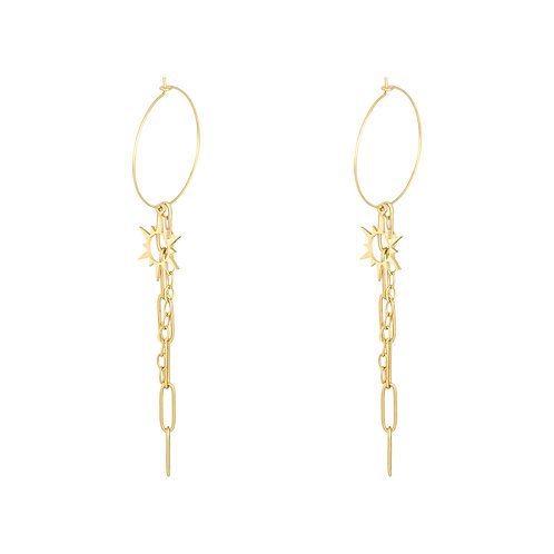 Chained Sun Earrings