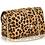 Thumbnail: Leather Small Fur Shoulder Bag | Leopard