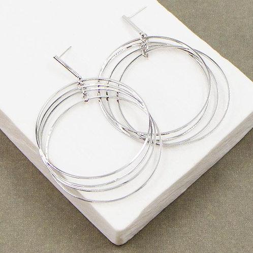 Multi Hoop Circle Earrings