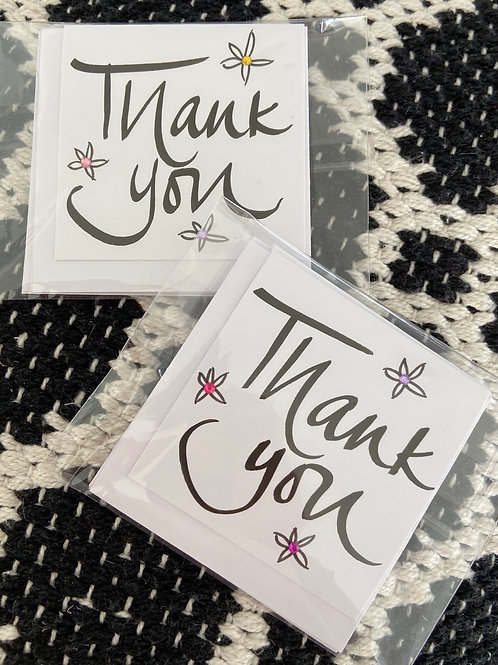 Pack Of 4 Small Handmade Cards