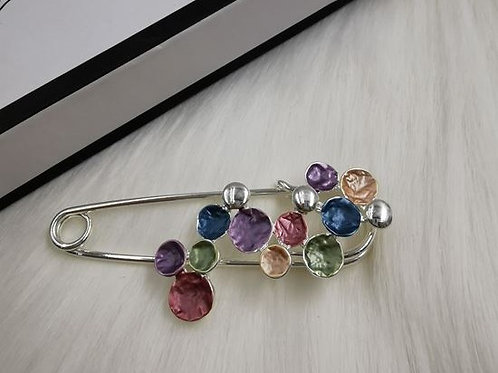 Multi Coloured Pin Brooch