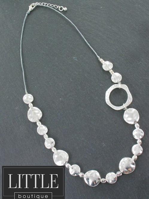 Asymmetric Beaton Disc & Ring Necklace