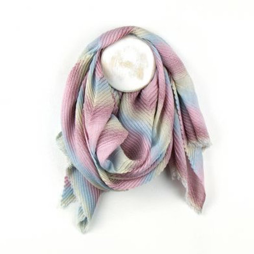 Pink Mix Chevron Scarf