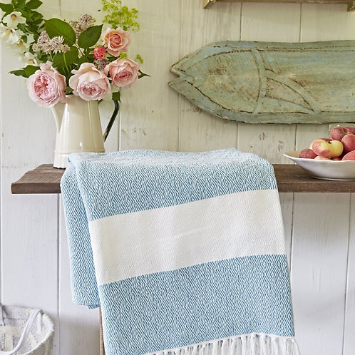 Teal Hammam Recycled Throw