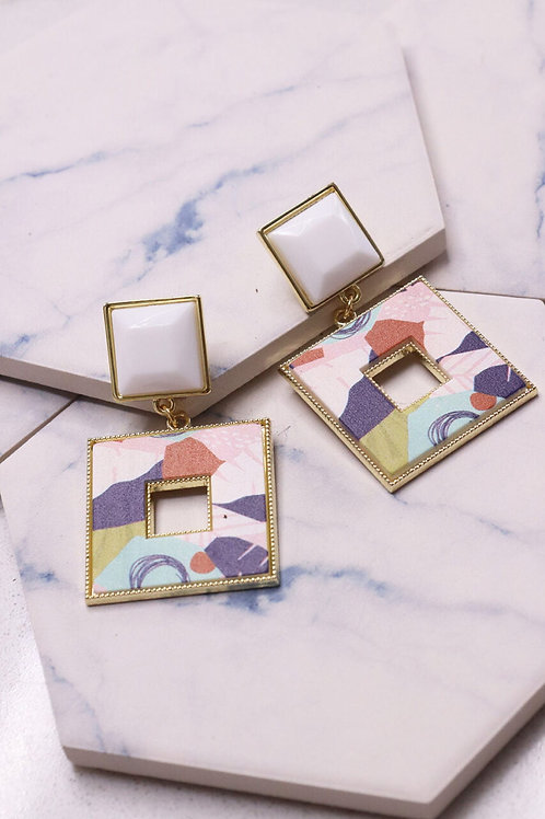 Abstract Square Earrings