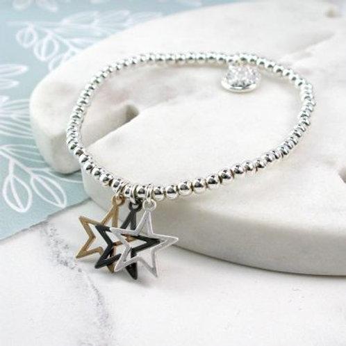 Triple Star Beaded Bracelet