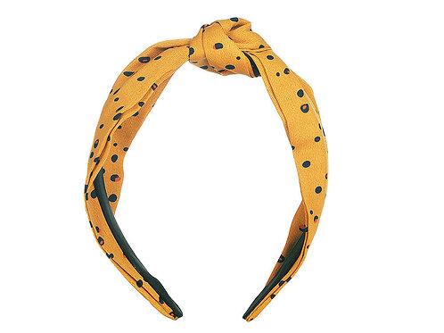 Ochre Dalmatian Knot Headband