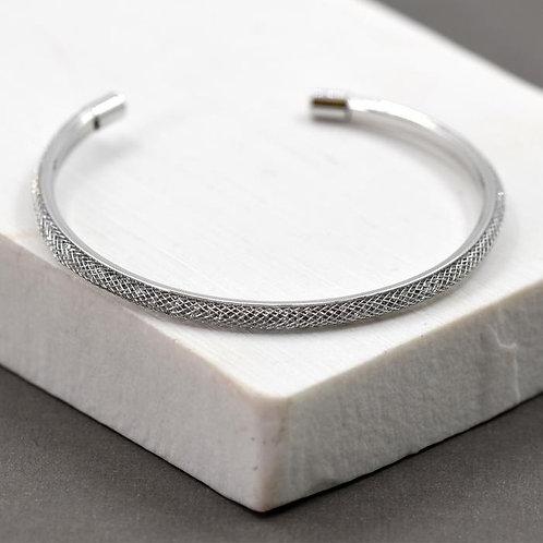 Metallic Thread Open Bangle