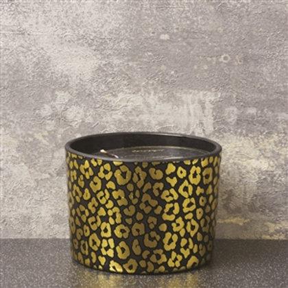 Black & Gold Leopard Spot Candle