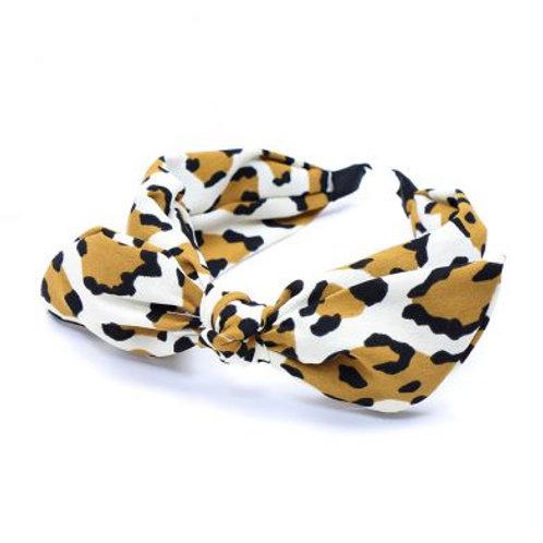 Mustard & White Animal Print Headband