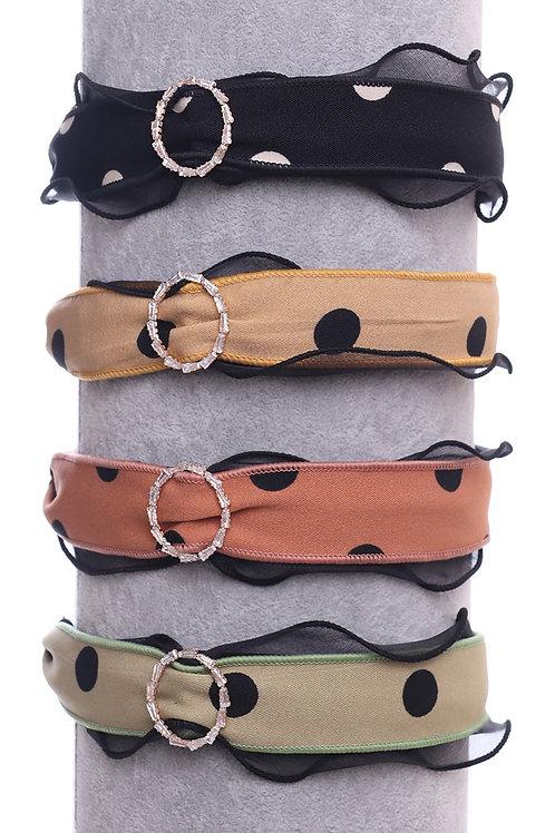 Polka Dot Embellished Headband