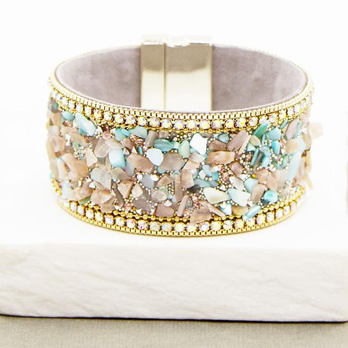 Pastel Textural Mix Simple Cuff