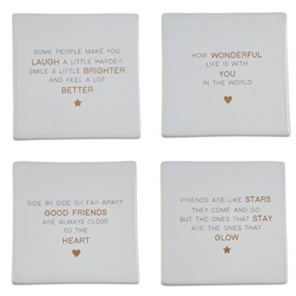 Set Of 4 Friendship Coasters