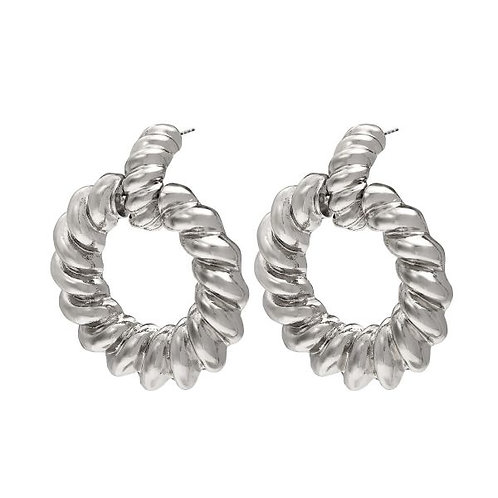 Earrings Twisted Hoops