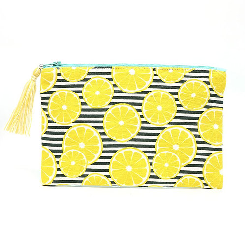 Purse   Cotton Stripes & Lemon