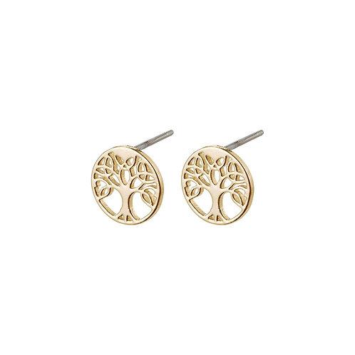 PILGRIM: Tree Of Life Earrings Gold Plated