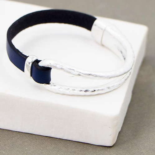 Leather Bangle Bracelet