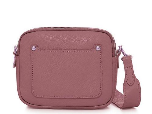 Leather Crossbody Bag | Dusky Pink