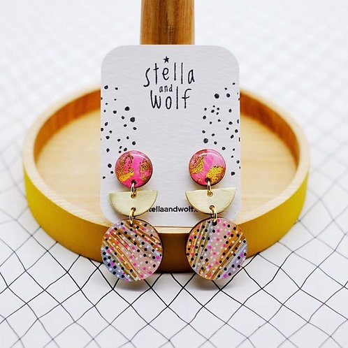 S&W Abstract Colourful Earrings