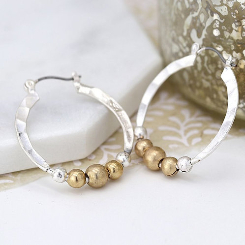 Two Tone Bead Hoops
