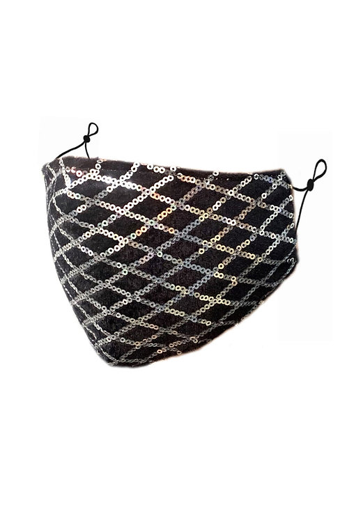 Sparkly Face Mask | Silver