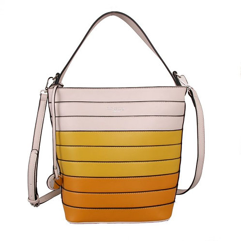 Red Cuckoo Yellow Bucket Bag Ombre