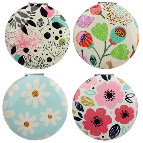 Pick Of The Bunch Floral Compact Mirror