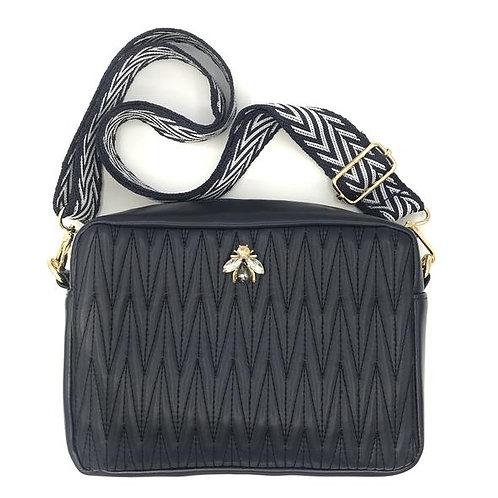 Sixton London | Crossbody Bag, Vegan Leather - Navy