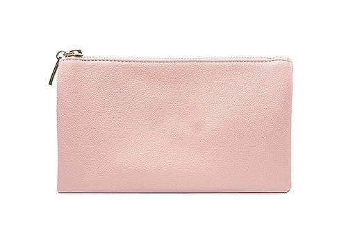 2 In 1 Clutch / Crossbody Bag Soft Pink
