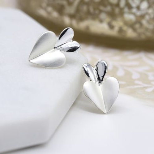 Double Resin Heart Studs