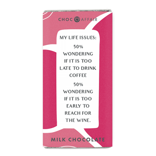 Chocolate Message Bar | Life Issues