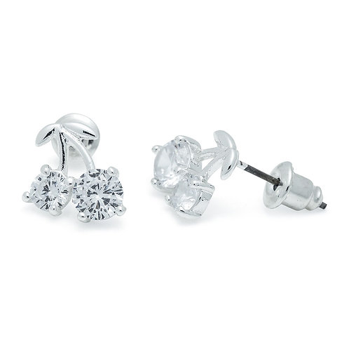 Cubic Zirconia Cherry Earrings