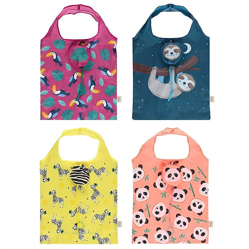 Eco Animals Foldable Shopping Bag