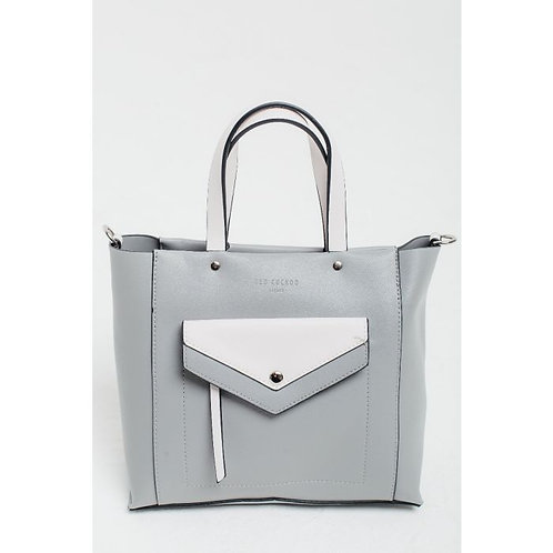 Red Cuckoo Grey & White Tote