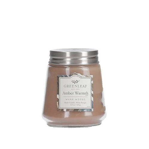 Greenleaf Petite Candle | Amber Warmth