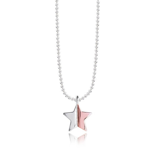Two Tone Star Astra Necklace