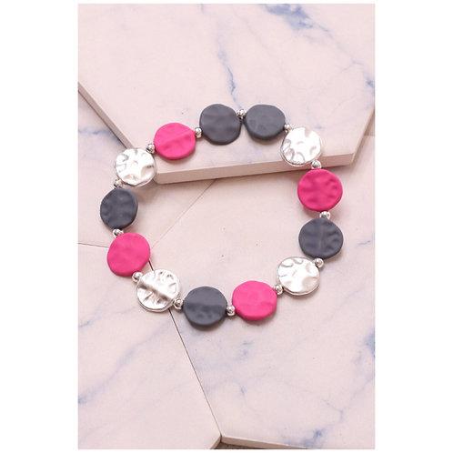Multi Circle Colour Bracelet   Pink