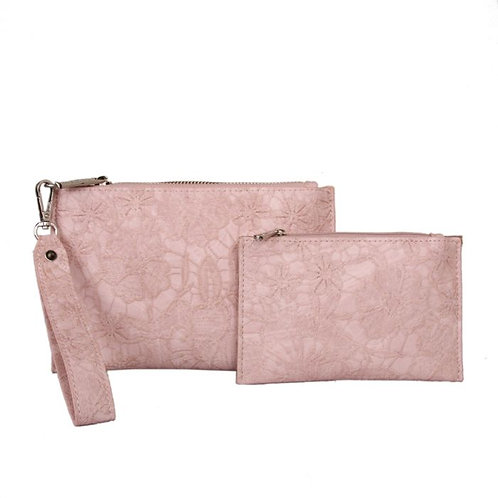 Pink Floral Purse In A Purse