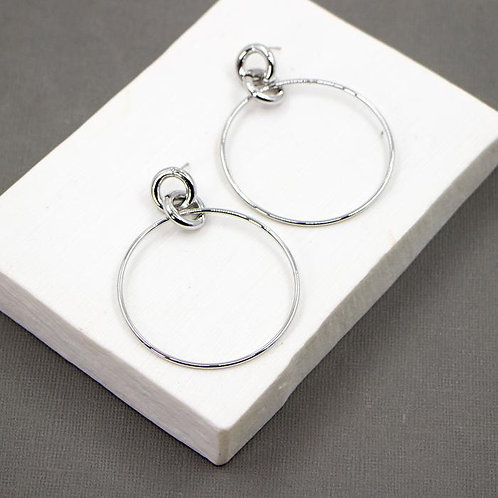 Simple Soft Hammered Effect Earrings