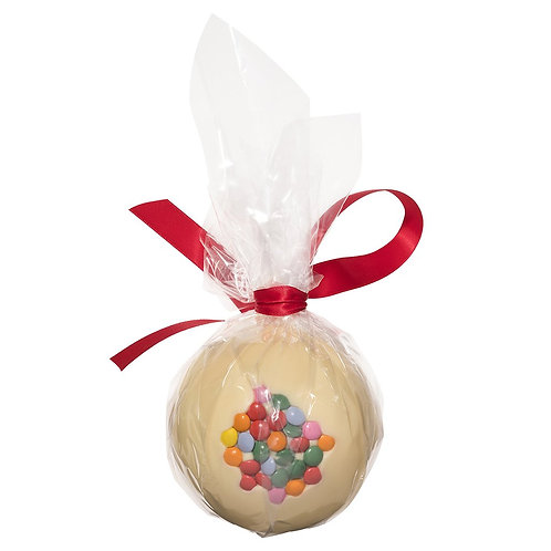 White Chocolate Candy Coated Christmas Bauble