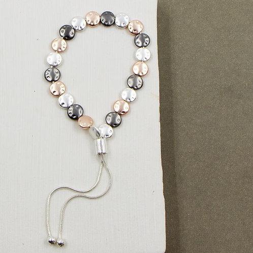 Flat Circle Beaded Friendship Style Bracelet
